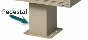 1565 HSCBU Type III and IV Replacement Pedestal