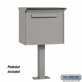 Salsbury 4276PRM Pedestal Drop Box Large Primer (Includes Pedestal)