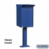 Salsbury 4275BLU Pedestal Drop Box Regular Blue (Includes Pedestal)