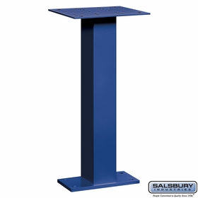 Salsbury 4285BLU Pedestal For Pedestal Drop Boxes Blue