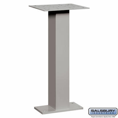 Salsbury 4285GRY Pedestal For Pedestal Drop Boxes Gray