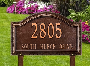 Penhurst Arch Grande Lawn Address Sign - Two Line