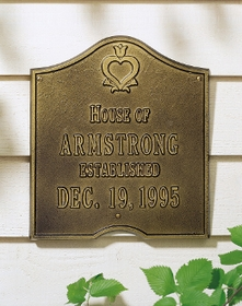 Pennsylvania Dutch Anniversary Plaque - Standard Wall - Two Line