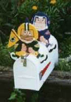 PEOPLE - Football Player Mailbox Toppers