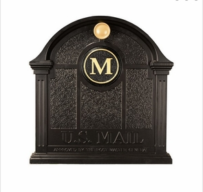 Whitehall Personalized Front Door Monogram - Black