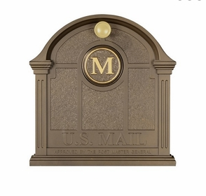 Whitehall Personalized Front Door Monogram - Bronze