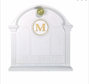 Whitehall Personalized Front Door Monogram - White