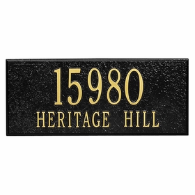 Personalized Side Plaque - Black