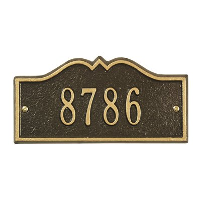 Whitehall Petite Size Hillsboro Wall or Lawn Plaque - (1 Line)