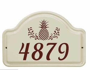 Whitehall Pineapple Ceramic Arch - One Line Standard Wall Plaque