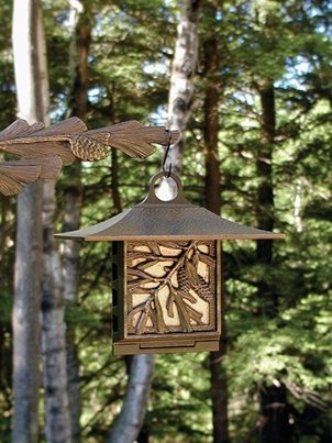 Whitehall Pinecone Suet Feeder - Oil Rub Bronze