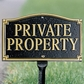 Whitehall Private Property Statement Plaque - Wall/Lawn - Black/Gold