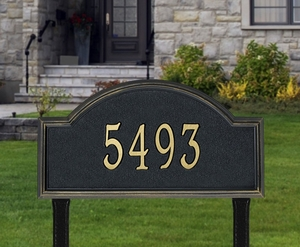 Whitehall Providence Arch Estate Lawn Address Sign - One Line
