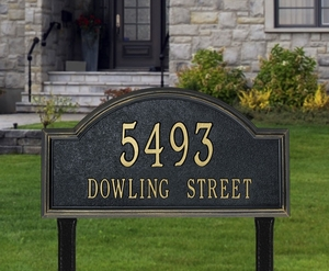 Whitehall Providence Arch Estate Lawn Address Sign - Two Line