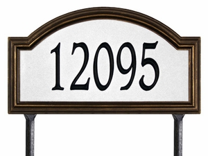 Whitehall Providence Arch - Estate Reflective Lawn Address Sign - One Line