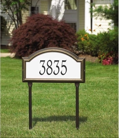Whitehall Providence Arch - Standard Reflective Lawn Address Sign - One Line