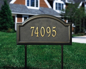 Whitehall Providence Arch Standard Lawn Address Sign - One Line