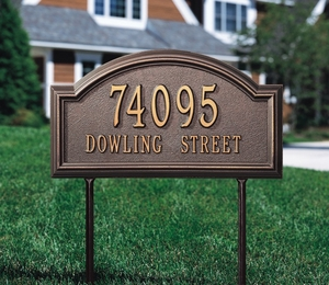 Whitehall Providence Arch Standard Lawn Address Sign - Two Line