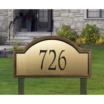 Whitehall Providence Artisan Metal Estate Lawn Address Sign - One Line