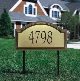 Whitehall Providence Artisan Metal Standard Lawn Address Sign - One Line