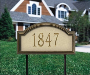 Whitehall Providence Artisan Stone Standard Lawn Address Sign - One Line