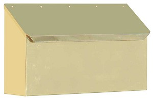 Provincial Collection Brass Mailboxes (horizontal) in Smooth Polished Brass