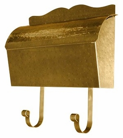 Provincial Collection Brass Mailboxes (roll top) in Antique Hammered Brass