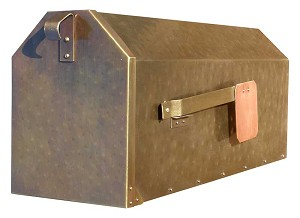 Provincial Collection Brass Mailboxes (rural) in Antique Hammered Brass