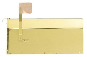 Provincial Collection Brass Mailboxes (rural) in Smooth Polished Brass