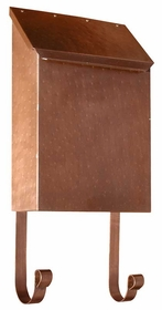 Provincial Collection Brass Mailboxes (vertical) in Antique Copper