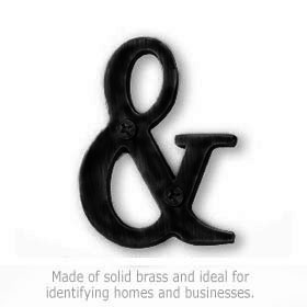 Salsbury 1245BLK-A Punctuation Mark Black Finish Ampersand
