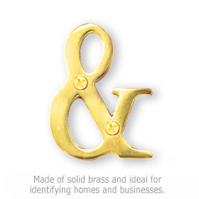 Salsbury 1245B-A Punctuation Mark Brass Finish Ampersand