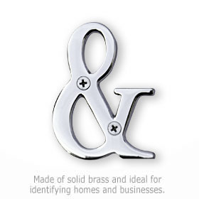 Salsbury 1245C-A Punctuation Mark Chrome Finish Ampersand