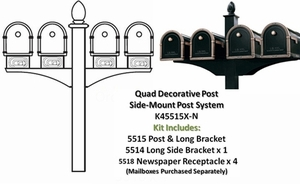 Decorative Post System Quad Setups