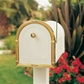 Double Standard In-Ground Post System with Newspaper Receptacles (Mailboxes Purchased Separately)