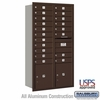 4C Horizontal Mailbox - Maximum Height Unit (56 3/4 Inches) - Double Column - 19 MB1 Doors / 2 PL's - Bronze - Rear Loading - USPS Access