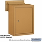 Salsbury 2256BRS Receptacle - Option for Mail Drop - Brass