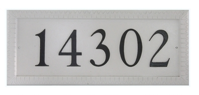 "Rectangle Cast Aluminum Flat Letter Address Plaque with Flat Letters (19"" x 8"")"