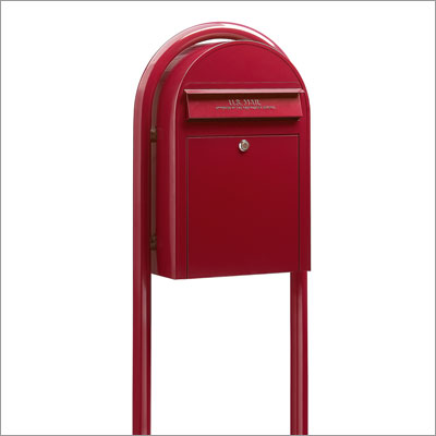 USPS Bobi Classic Red Front Access Mailbox (Post Included)