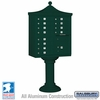 Salsbury 3312R-GRN-U 12 Door Regency Decorative Cluster Mailbox Green