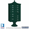 Salsbury 3313R-GRN-U 13 Door Regency Decorative Cluster Mailbox Green