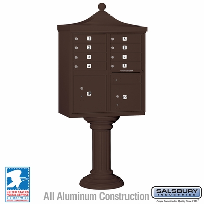 Salsbury 3308R-BRZ-U 8 Door Regency Decorative Cluster Mailbox Bronze