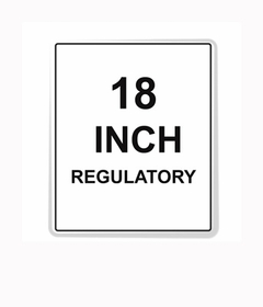 Regulatory Sign Reflective Faceplate 18""