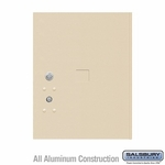Replacement Parcel Locker Door and Tenant Lock - for Standard 5 High (PL5) 4C Pedestal Parcel Locker - with (3) Keys - Sandstone