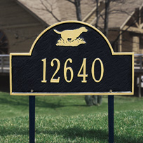 Whitehall Retriever Arch - Standard Lawn Address Sign - One Line