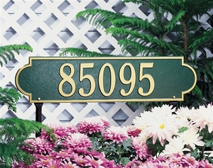 Whitehall Richmond Horizontal - Estate Lawn Address Sign - One Line