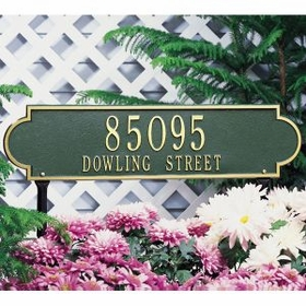 Whitehall Richmond Horizontal - Estate Lawn Address Sign - Two Line