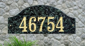 Ridgecrest (arch), in Emerald solid granite plaque w/Engraved Text