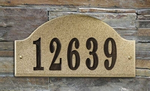 Ridgecrest (arch), in Sand Natural solid granite plaque w/Engraved Text