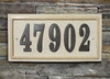 Ridgestone address plaque system, Rectangle, Sandstone
